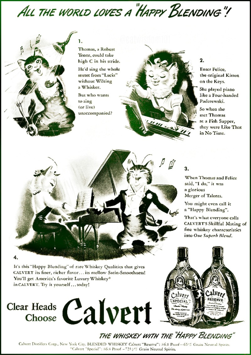 Calvert__cats_Vintage Blended Whiskey -1942