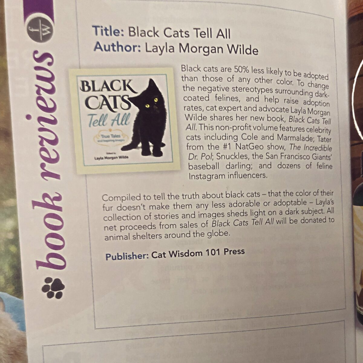 Animal Wellness book review Black cats Tell All