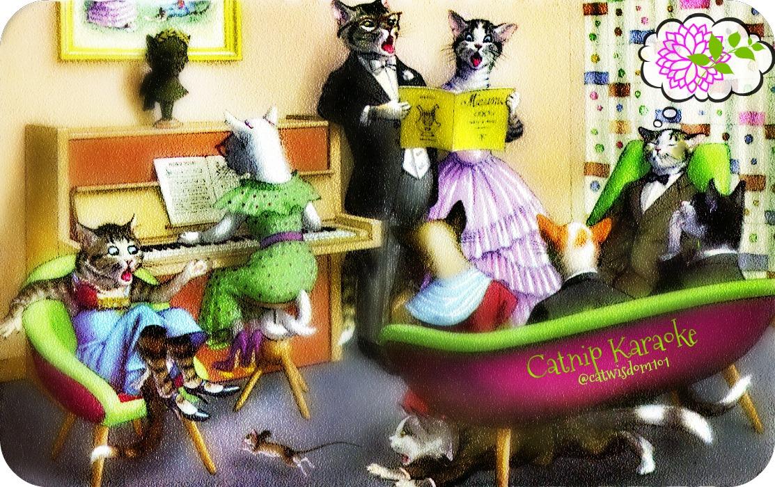 catnip_karaoke_catwisdom101 Cat Wisdom 101 Catnip Karaoke Christmas Carols