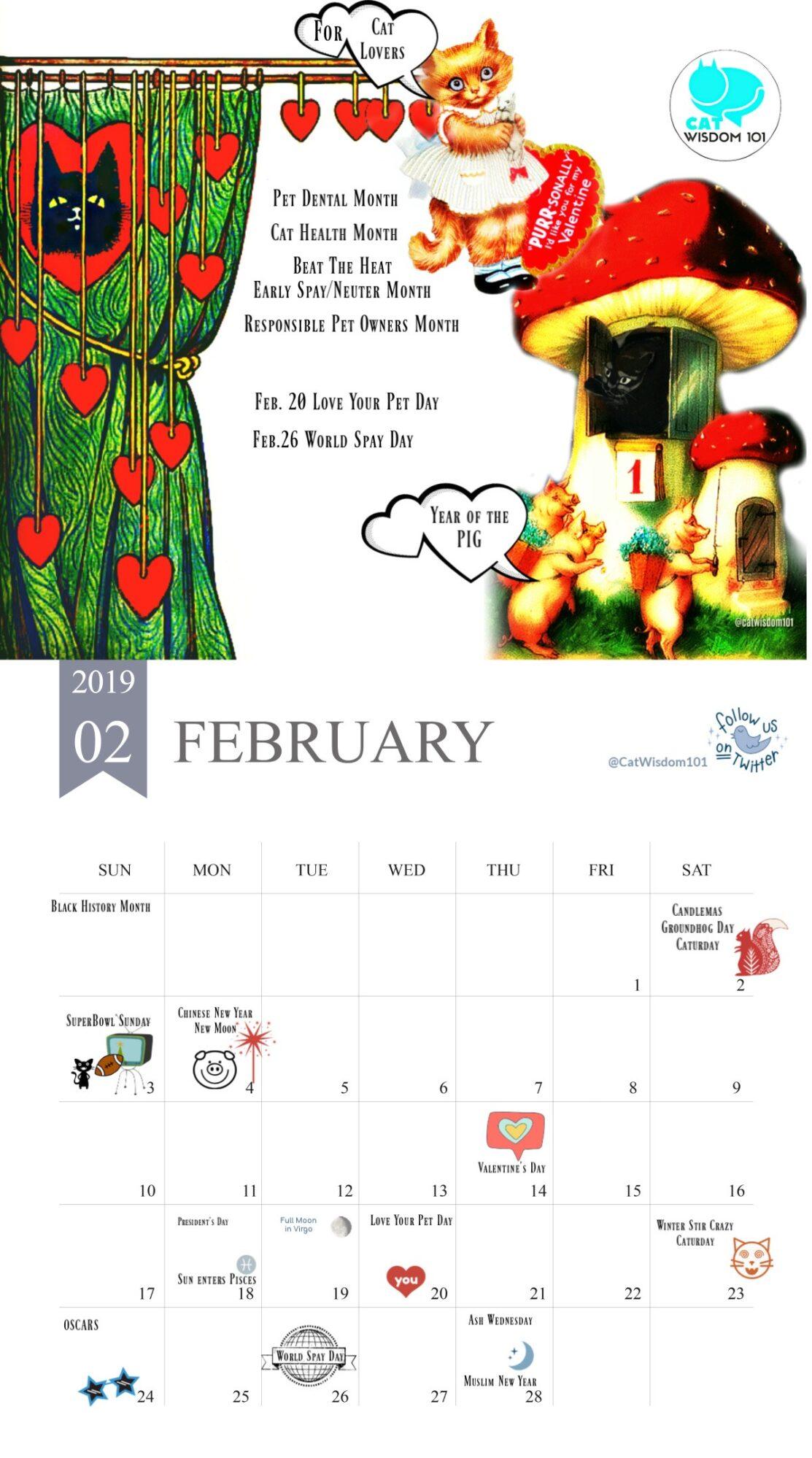 Calendar_2019-february_catwisdom101
