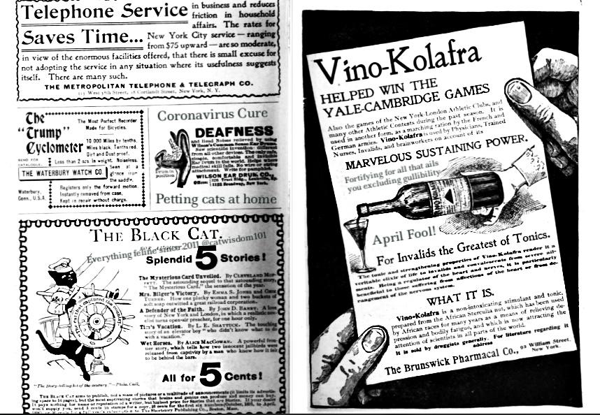 antique newspaper ads-april fool