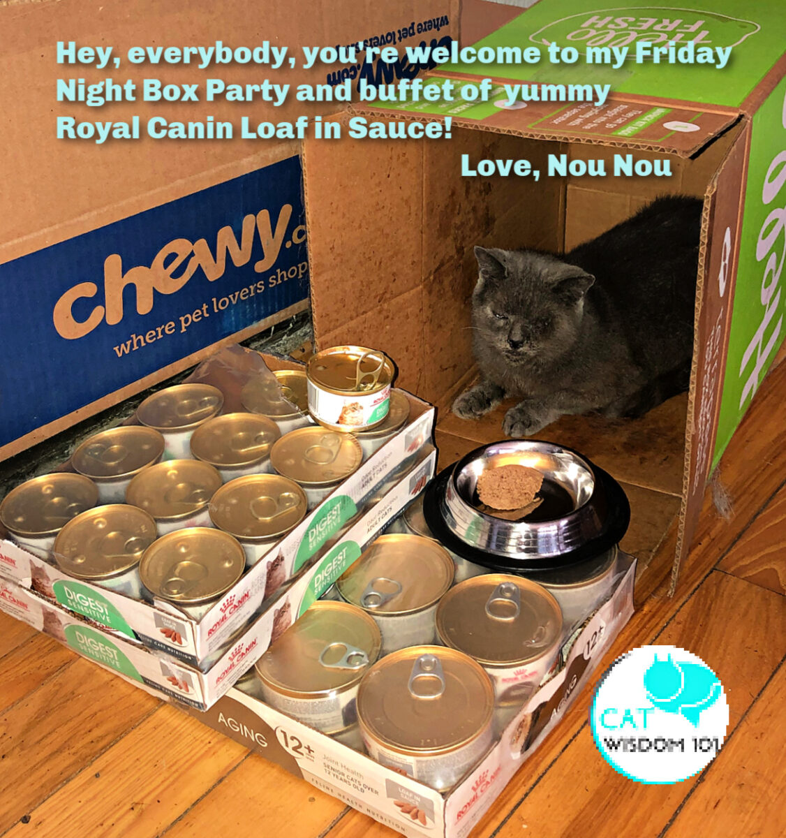 friday night box party Chewy Royal Can