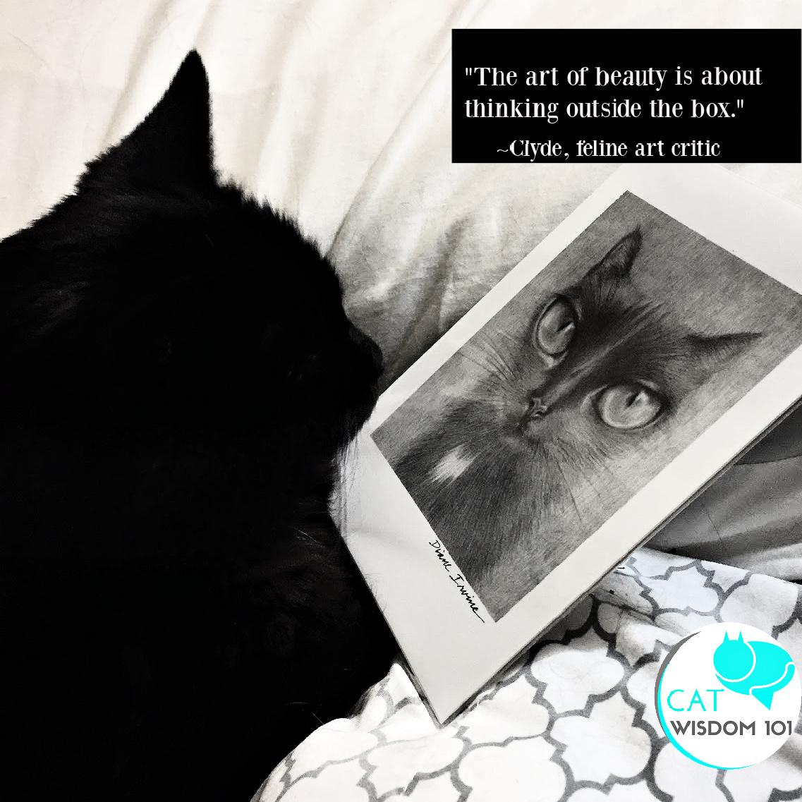 feline art critic