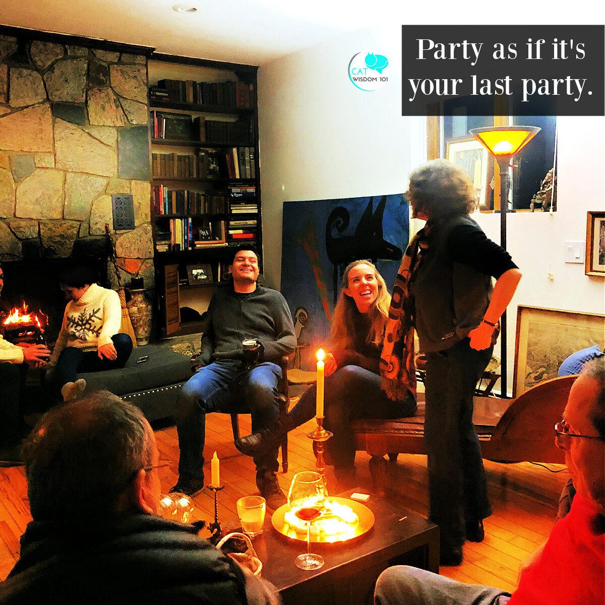 solstice party cat quote